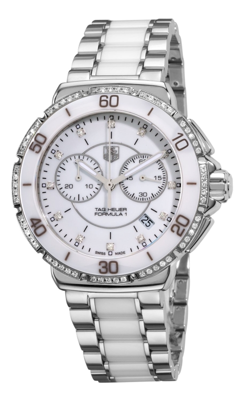 TAG Heuer Women's CAH1213.BA0863 Formula One White Diamond Chronograph Watch