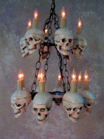 Tiered Medium Skull Chandelier