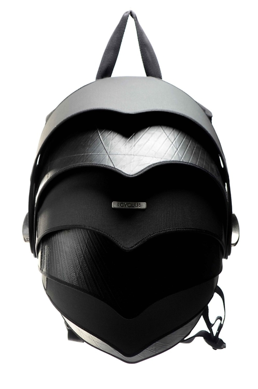 Cyclus Pangolin Backpack made of reused tyre inner tubes