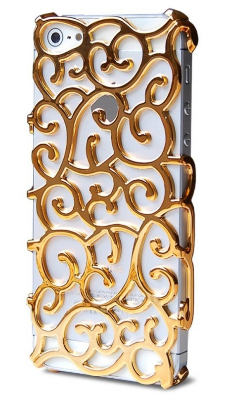 Chrome Pattern Design Back Cover PC Case for Apple iPhone 5