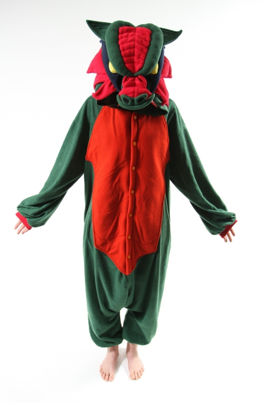 Adult Green Dragon Costume Pajamas