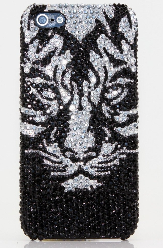 Luxury Swarovski Crystal Diamond Black Tiger