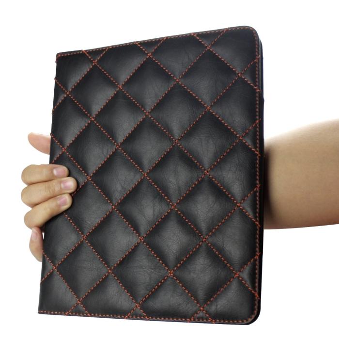 Luxury 100% Full Grain Genuine Top Layer Buffalo Hide Vintage Leather Case for iPad 2 / iPad3 / the New iPad