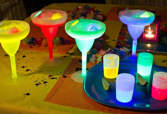 Set of 4 Glow Margarita Glasses