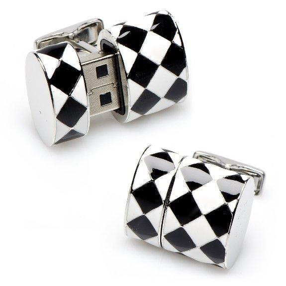 Diamond Oval USB Cufflinks (8GB)