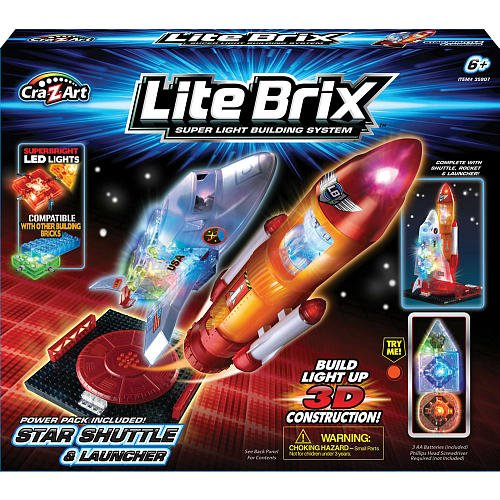 Lite Brix Building System - Star Shuttle and Launcher