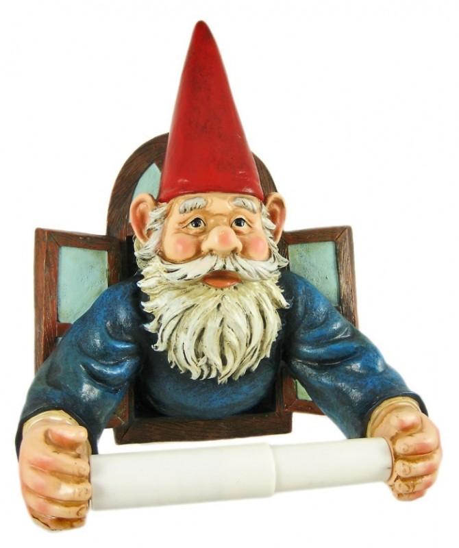 Gnome Toilet Paper Roll Holder Tissue