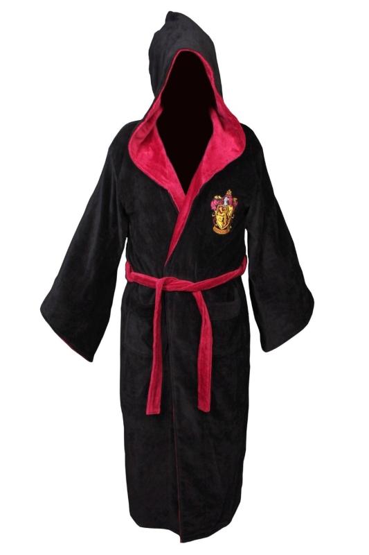 Harry Potter Gryffindor Cotton Hooded Bathrobe