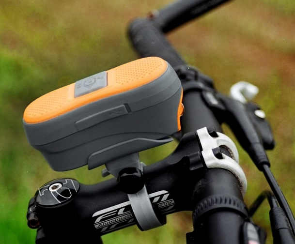 Bluetooth Hands Free Receiver and LED Head Light for Bicycle