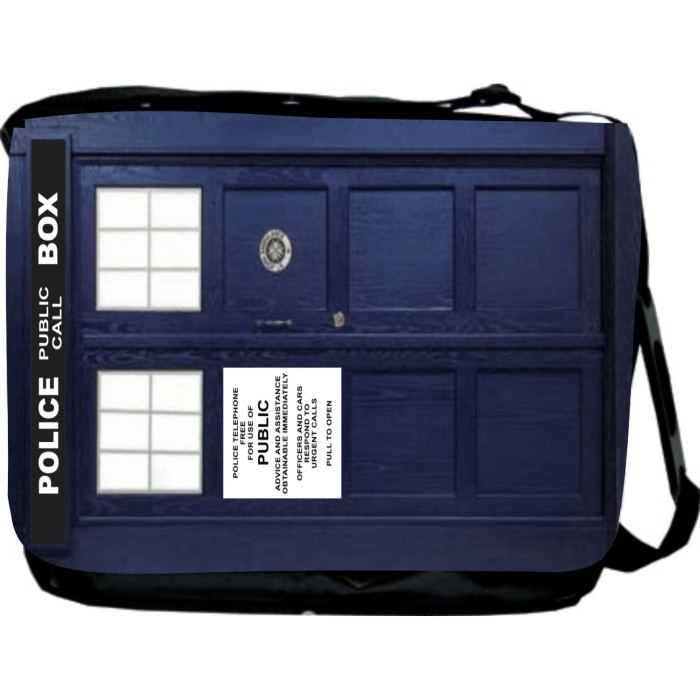 Tardis Phone Booth Messenger Bag