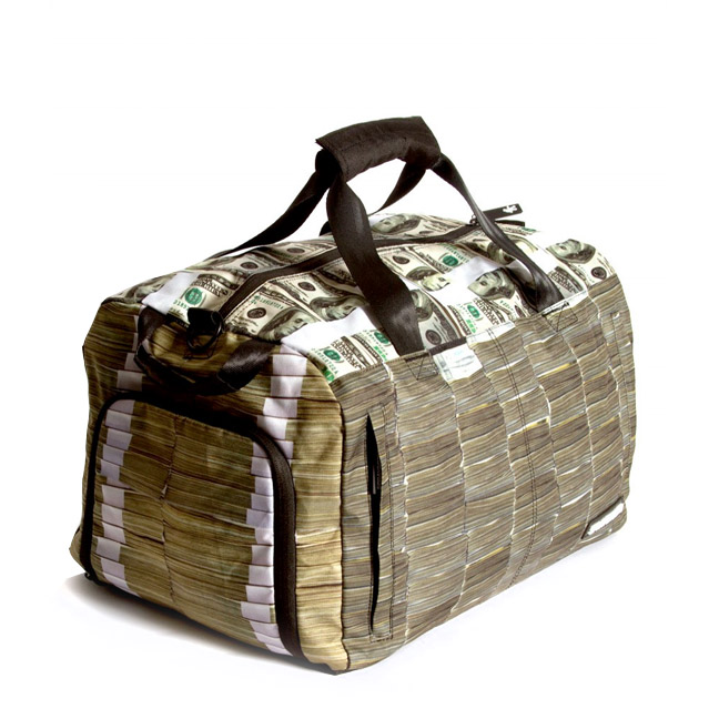 The Money Stacks Duffle Bag in Black
