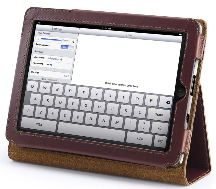 Leather Case for iPad Mini / Mini iPad / Built-in Stand and Support Smart Cover
