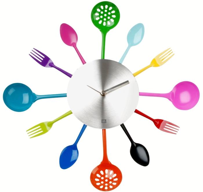 Silverware & Cooking Utensils Wall Clock