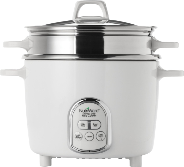 NutriWare 14-Cup (Cooked) Digital Rice Cooker and Food Steamer