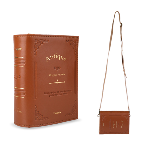Antique Book Style Shoulder Bag