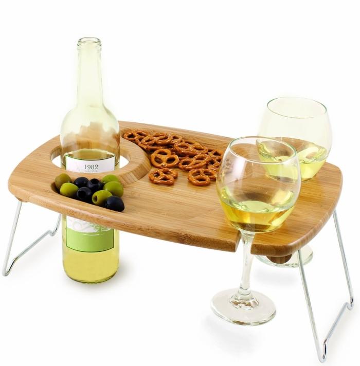 Picnic Time Mesavino Portable Wine and Snack Table