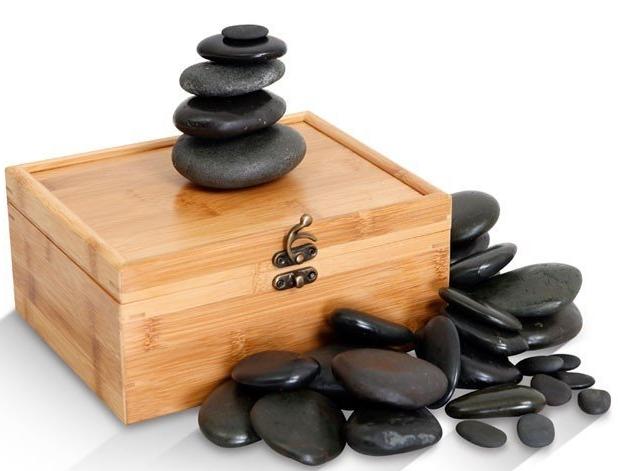 30pc Hand-Selected Basalt Massage Stones