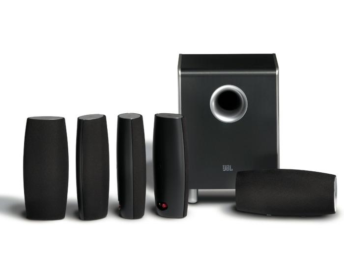 JBL CS6100BG High-Performance Complete 6-Piece Home Theater Speaker System