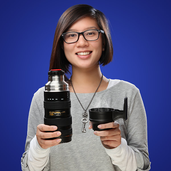 Camera Lens Stainless Coffee Thermos