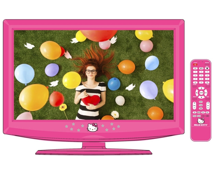 """Hello Kitty 19"""" LCD Television with Remote Control"""