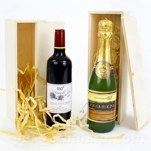 CHAMPAGNE & WINE BOTTLE CANDLE