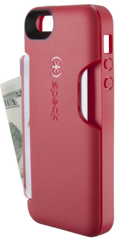 Speck Products SmartFlex Card Case for iPhone 5 - Retail Packaging - Pomodoro Red