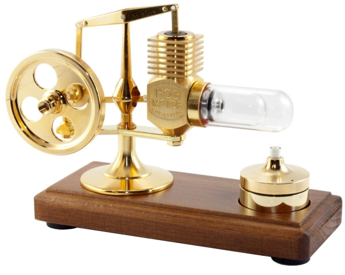 Solar 24ct Gold Plated Stirling Engine