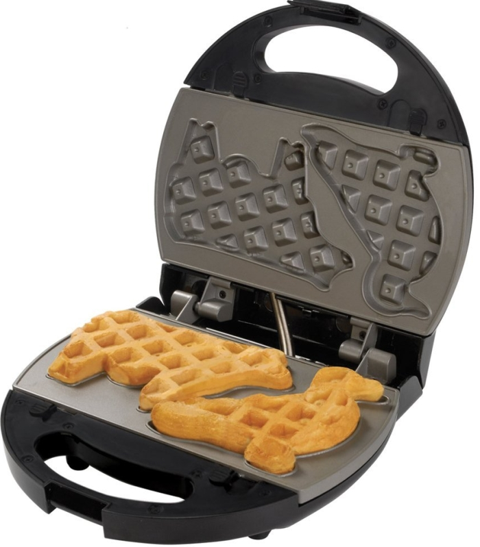 Nonstick Waffle and Sandwich Maker with 3 Removable Plates
