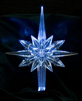 Reflections White Pulsing LED Tree Topper