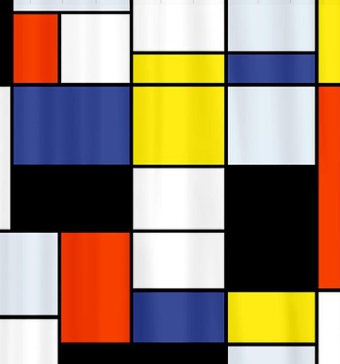 Mondrian Composition A Shower Curtain