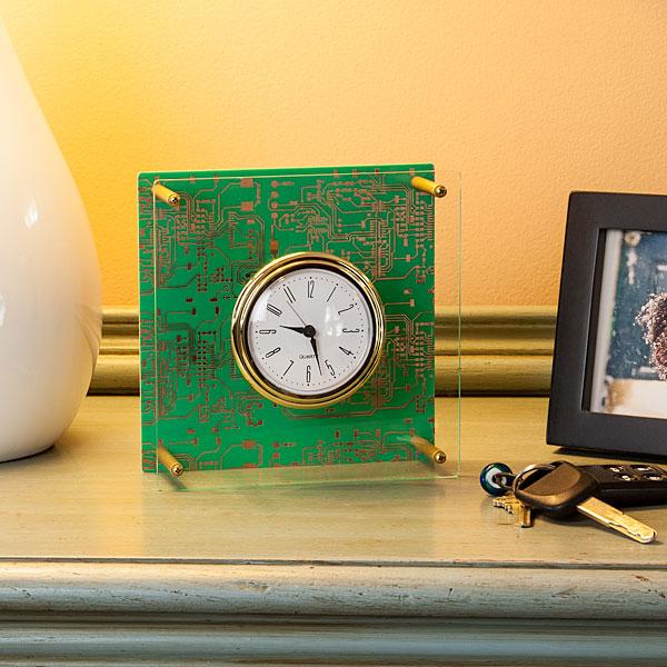 Executive Motherboard Desk Clock