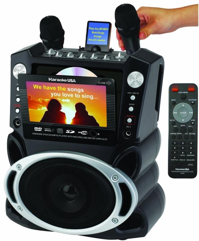 Karaoke USA Karaoke System with 7-Inch TFT Color Screen