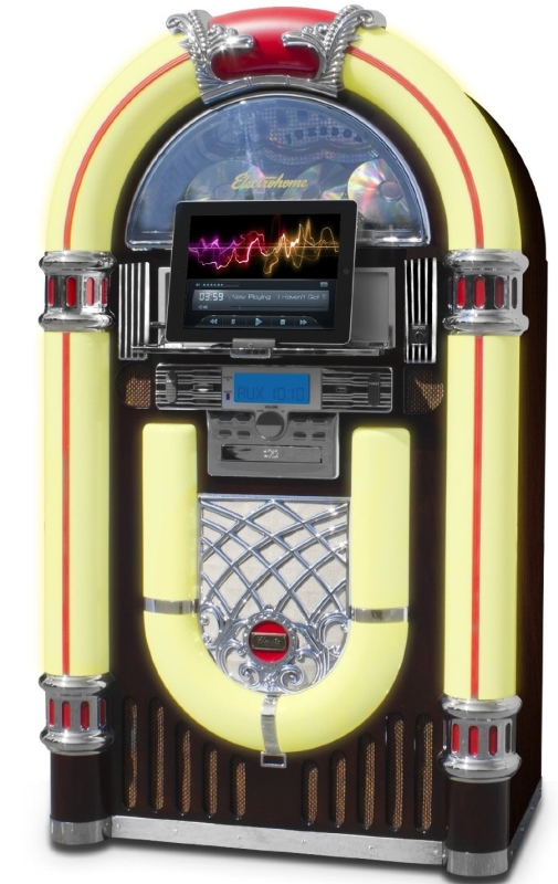 Jukebox with CD Player, FM Radio, USB & SD Playback and MP3 Input