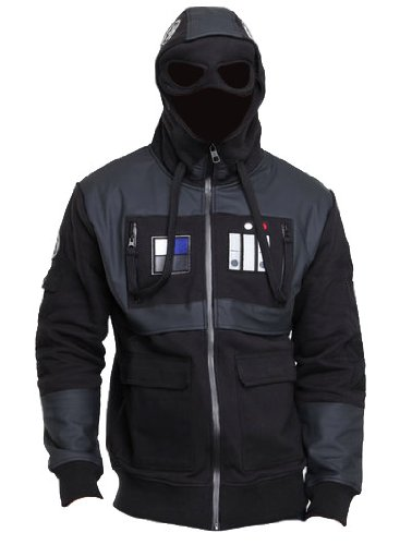 Star Wars Imperial Fighter Costume Mens Jacket with Hood and Goggles