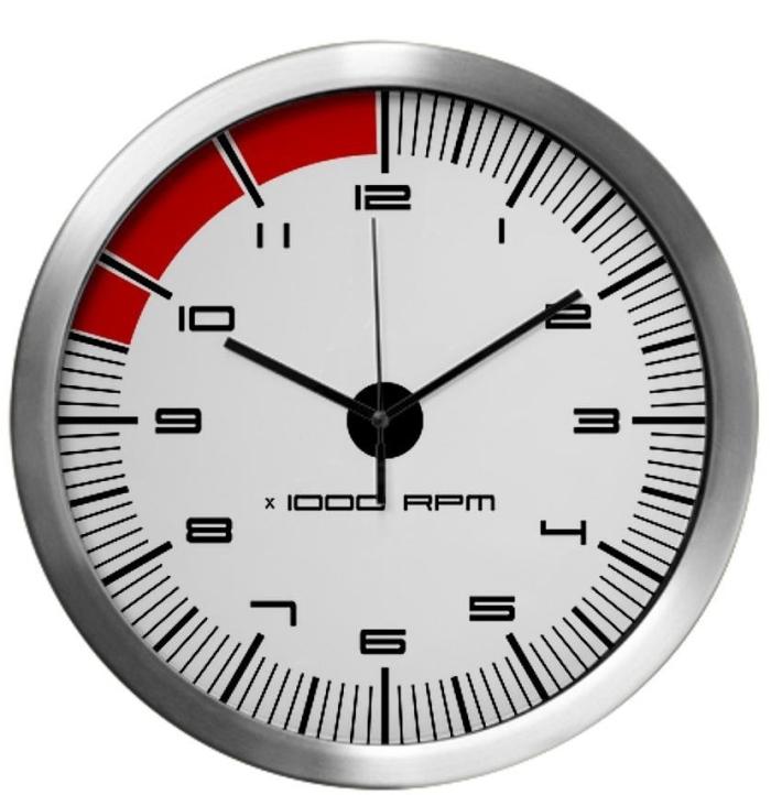 Porsche Carrera Tachometer Modern Wall Clock