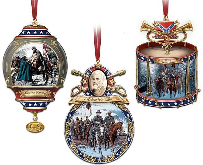 """""""Home For The Holidays"""" Civil War Ornament Set"""