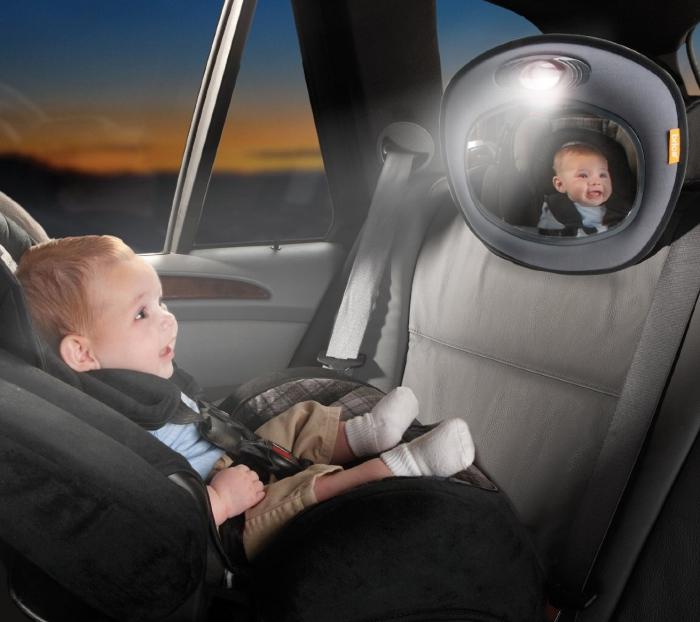 Brica Day and Night Light Musical Auto Mirror