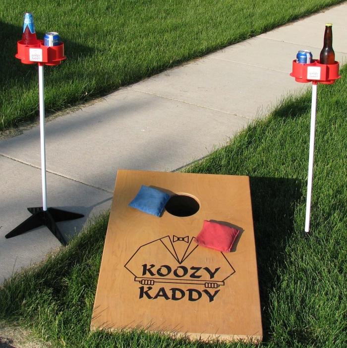 Amazon.com  Koozy Kaddy Elevated Drink Holders for Cornhole (Set of Two) - MAIN