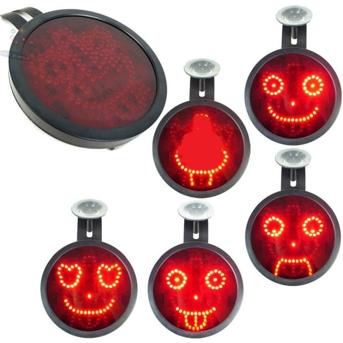 Novelty LED Car Sign Animated Facial Expression