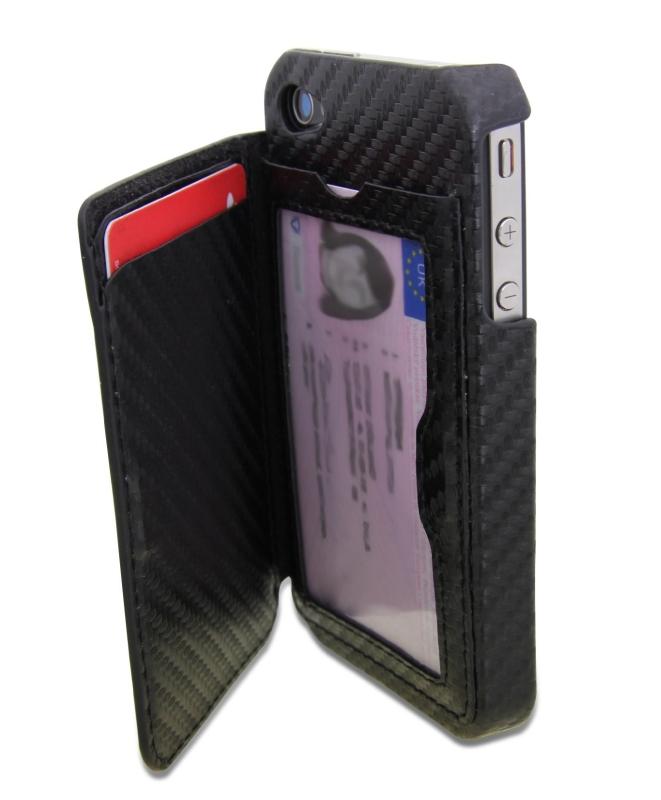 Amazon.com  iWallet the iPhone 5 Wallet Case in Carbon Fiber Black - MAIN