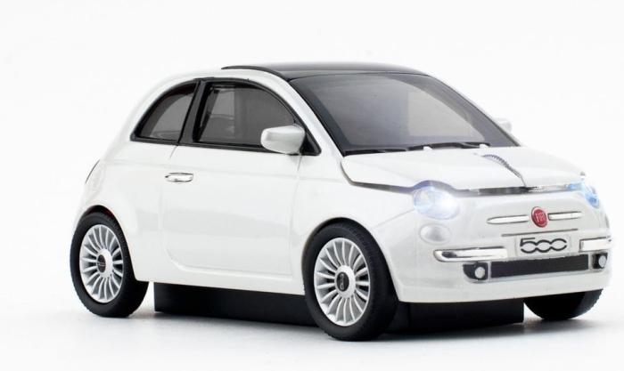 Amazon.com  Click Car Fiat 500 Optical Wireless Mouse (Pearl White) - PT01