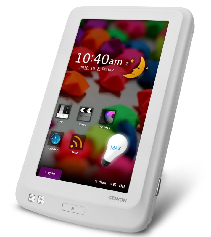 Amazon.com  Cowon X7 120GB MP4 Player with 4.3-Inch TFT LCD (White) - MAIN