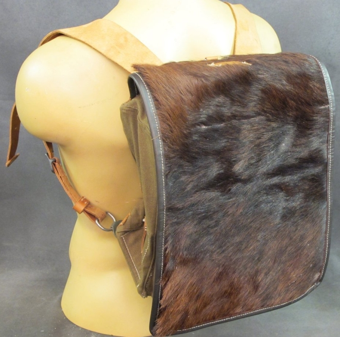 Amazon.com  German WWII Tornister 34 Cowhide Backpack with Shoulder Straps - MAIN