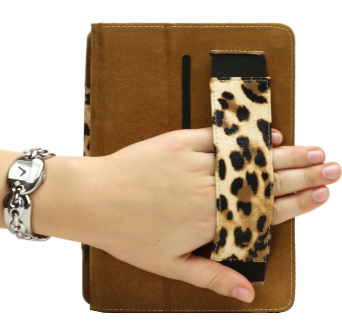 Amazon.com  Leopard PU Leather Case Cover with Stand & Handgrip for Apple Ipad Mini - PT04