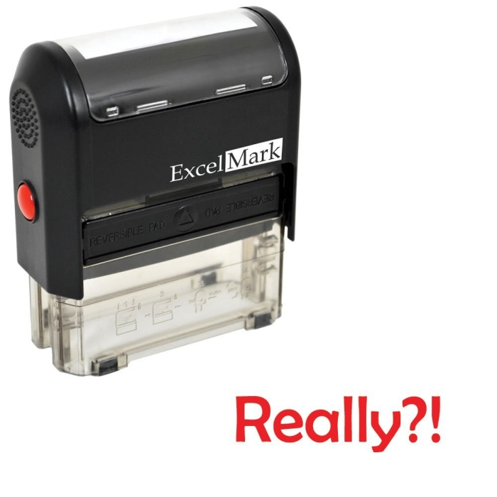 Amazon.com  Self-Inking Novelty Message Stamp - REALLY ! - Red Ink - MAIN
