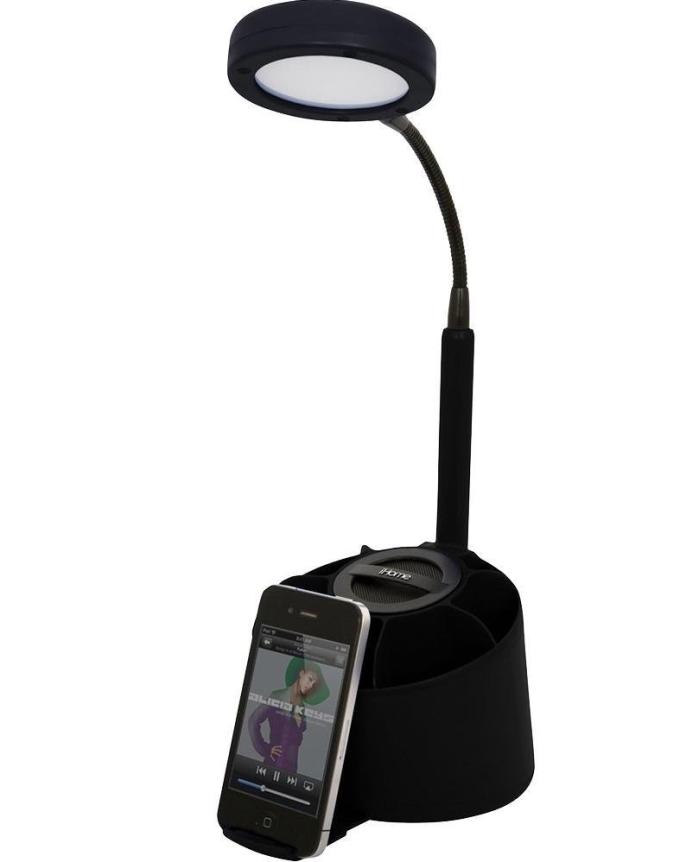 Amazon.com  iHome Speaker_LED Desk Lamp with Organizer iPad_iPod_iPhone IHLM118BLACK - MAIN