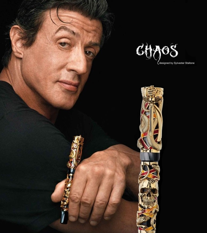 Montegrappa-Chaos-Gold-Rollerball-Pen-by-S.-Stallone-ISCHNRGC-2