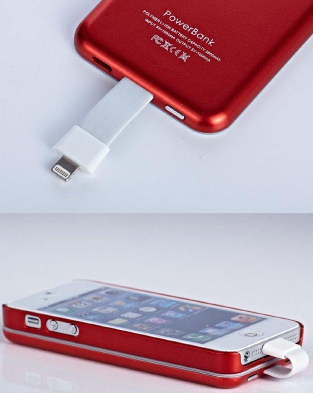 External Rechargeable 2800mah Cover for Apple Iphone 5