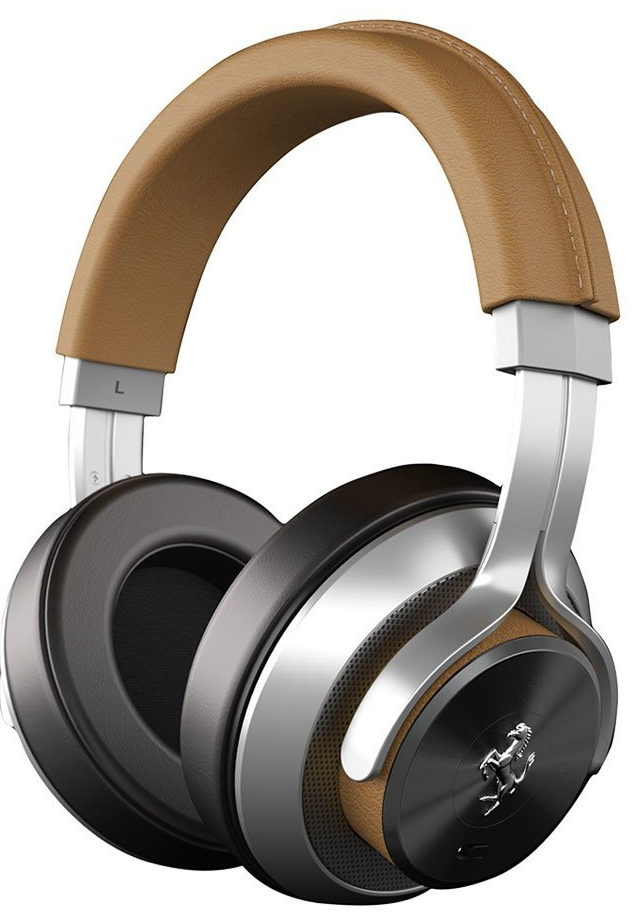 Ferrari by Logic3 Cavallino T350i Tan Noise Cancelling Headphones