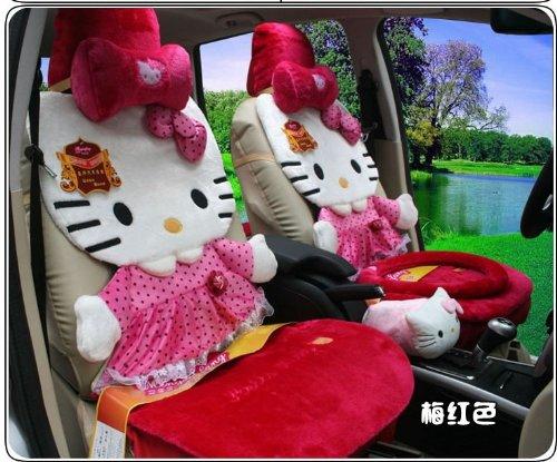 Hello Kitty Auto Car Front Rear Seat Cover Plush 12pcs